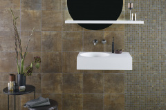 Wand-/Bodenfliesen: 30x30cm, 28,86 EUR/qm  Mosaik: 2,5x2,5cm, 114,40 EUR/qm